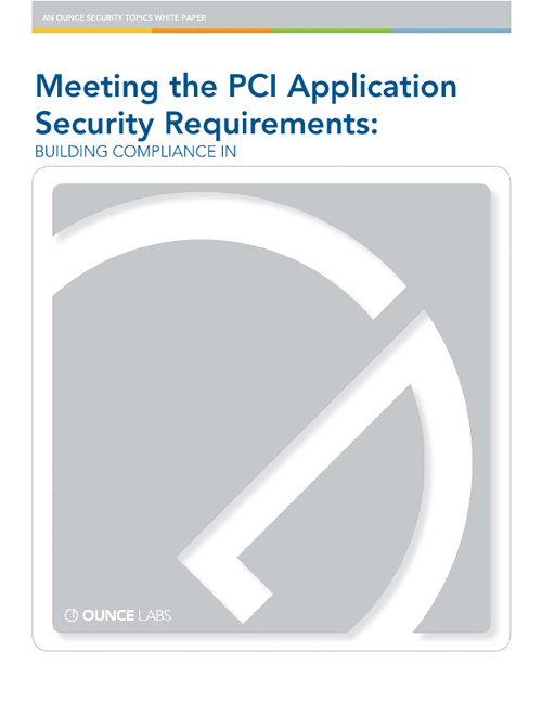 PCI Compliance: Identifying Application Vulnerabilities