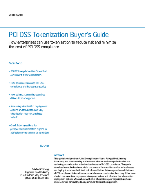 PCI DSS Tokenization Buyer's Guide
