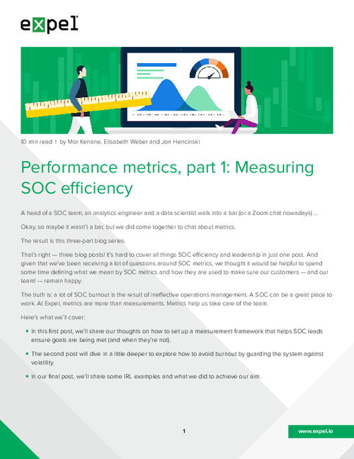 Performance Metrics Part 1: Measuring SOC Efficiency