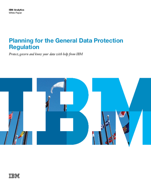 Planning for the General Data Protection Regulation