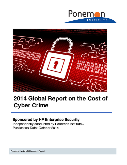 Ponemon Cost of Cyber Crime Study: Global Report