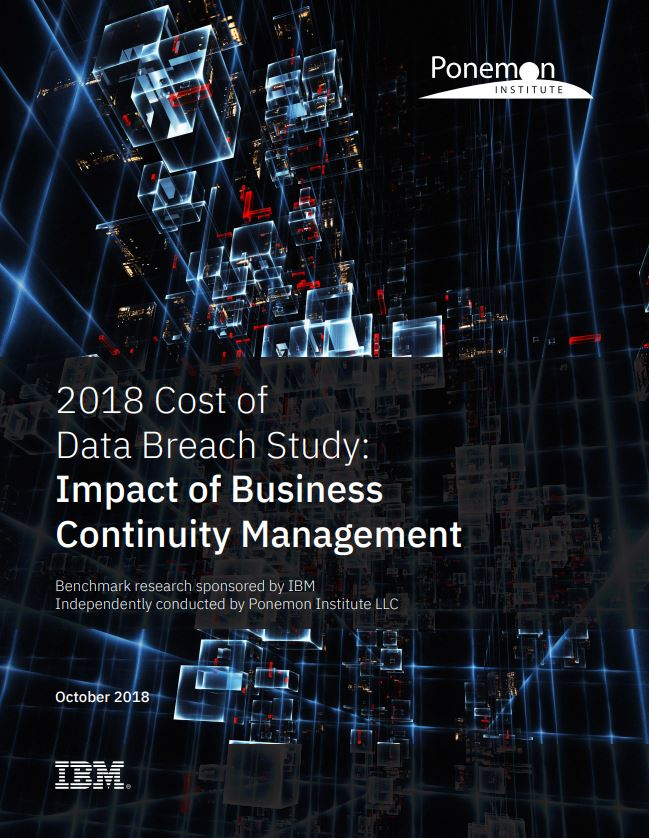 Ponemon Institute 2018 Cost of Data Breach Study