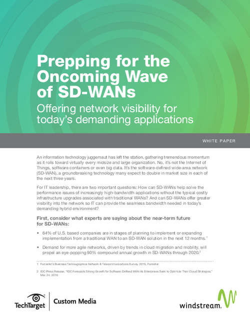 Prepping for the Oncoming Wave of SD-WANs