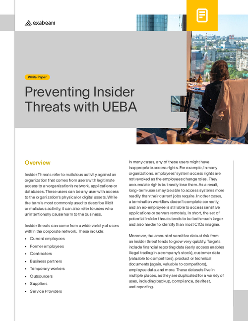 Preventing Insider Threats with UEBA