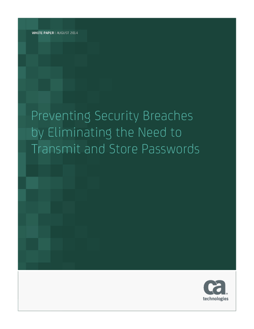 Preventing Security Breaches by Eliminating the Need to Transmit and Store Passwords