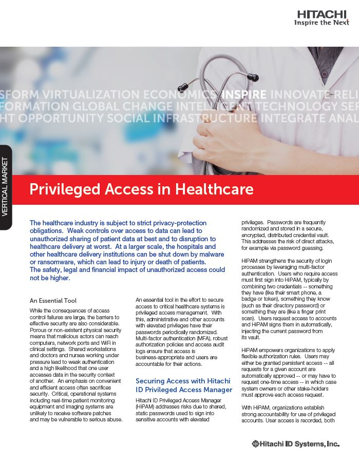 Privileged Access in Healthcare