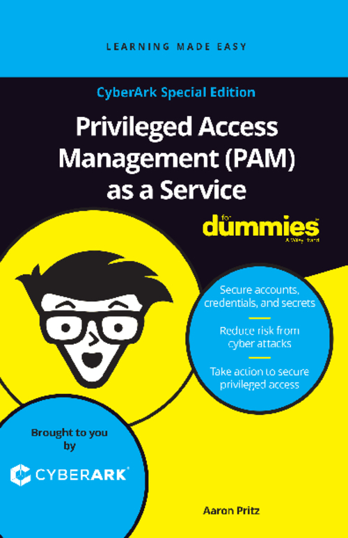 Privileged Access Management (PAM) as a Service (For Dummies)