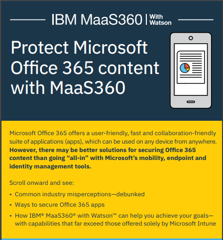 Protect Microsoft Office 365 content with MaaS360