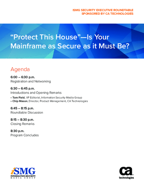 """Protect This House"" - Is Your Mainframe as Secure as it Must Be?"