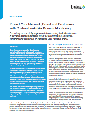 Protect your Network with Custom lookalike Domain Monitoring