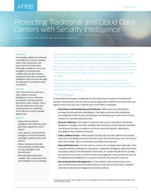 Protecting Traditional and Cloud Data Centers with Security Intelligence