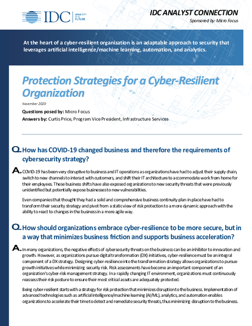 Protection Strategies for a Cyber-Resilient Organization