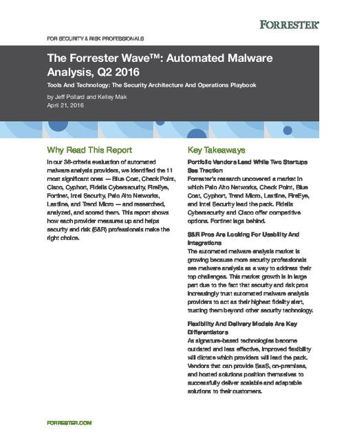 Top 11 Automated Malware Analysis Providers Ranked by Forrester