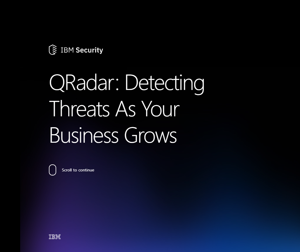 QRadar: Detecting Threats As Your Business Grows