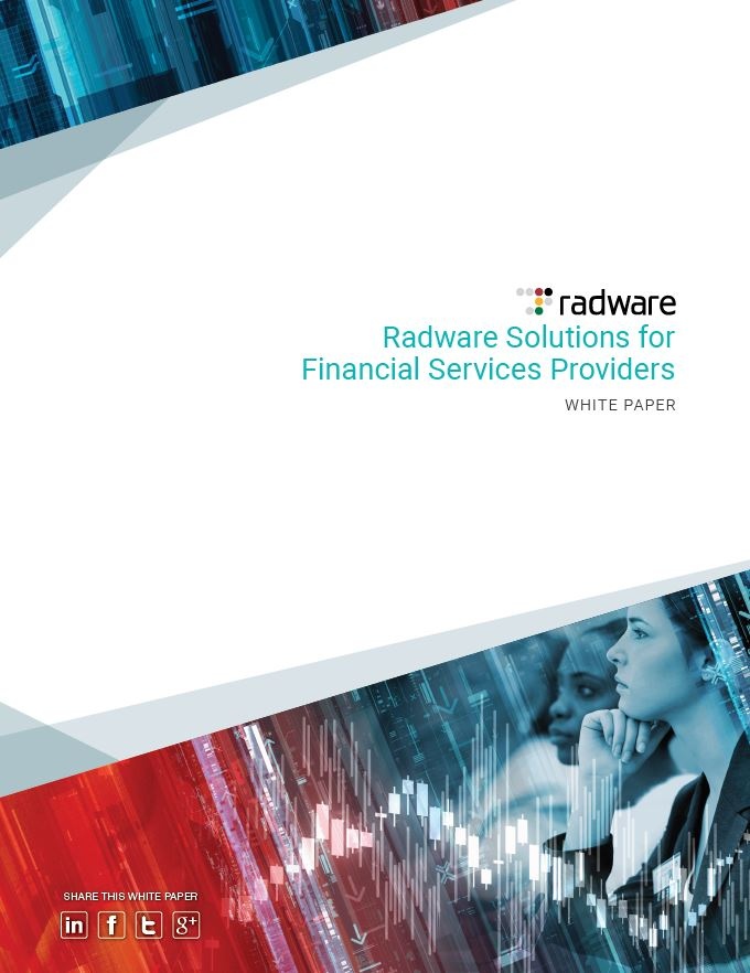 Radware Solutions for Financial Services Providers
