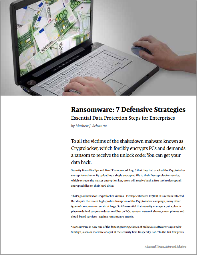 Ransomware: 7 Defensive Strategies