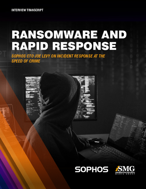 Ransomware and Rapid Response : Sophos CTO Joe Levy on Incident Response at the Speed of Crime