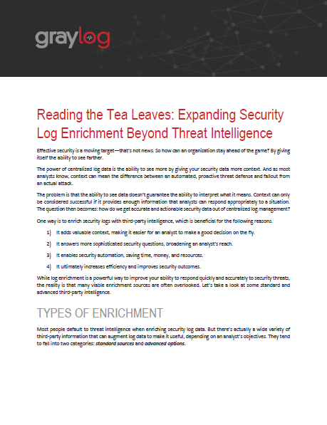 Reading the Tea Leaves: Beyond Threat Intelligence