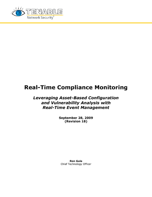 Real-Time Compliance Monitoring