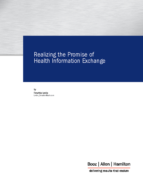 Realizing the Promise of Health Information Exchange