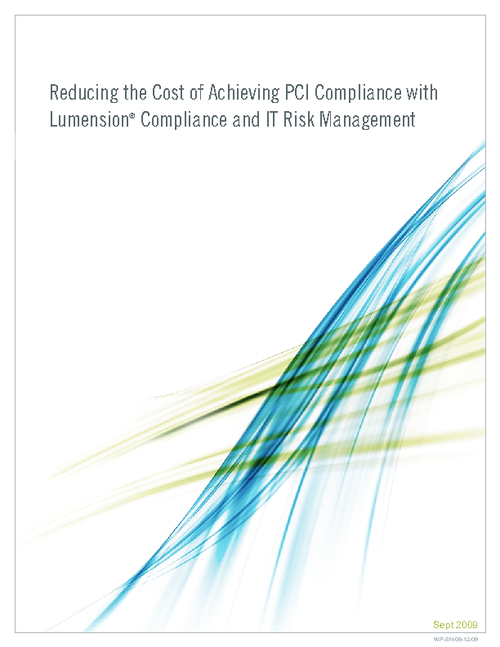 Reducing the Cost of Achieving PCI Compliance