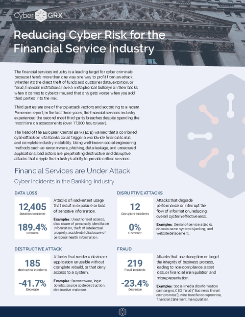 Reducing Cyber Risk for the Financial Service Industry