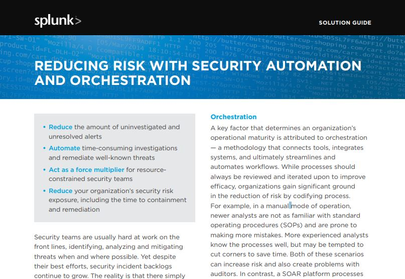 Reducing Risk With Security Automation & Orchestration