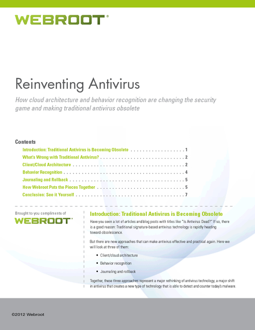 Reinventing Antivirus: How Cloud Architecture and Behavior Recognition are Changing the Security Game