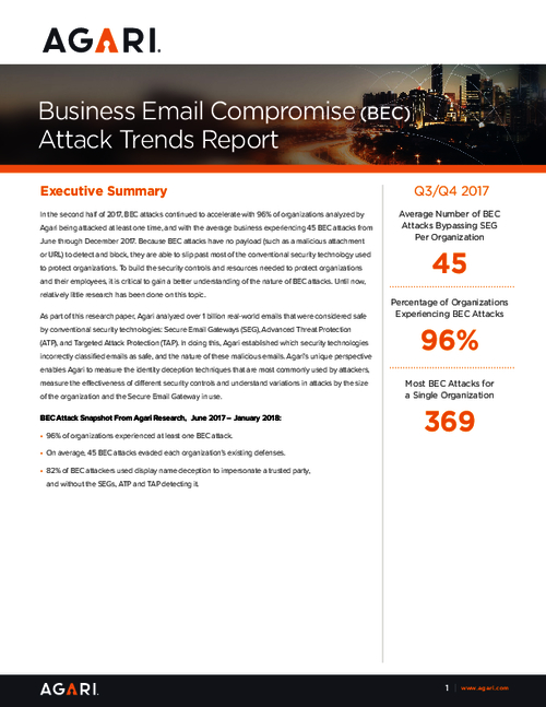 Report: Business Email Compromise Attack Trends