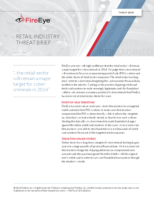 Retail Industry Threat Brief - BankInfoSecurity