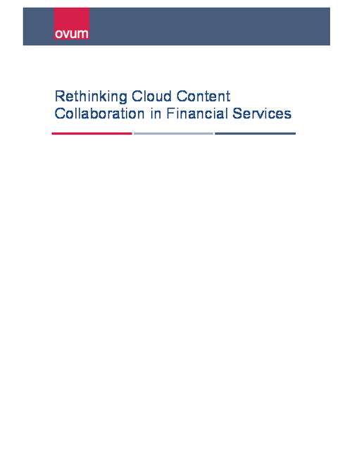 Rethinking Cloud Content Collaboration in Financial Services