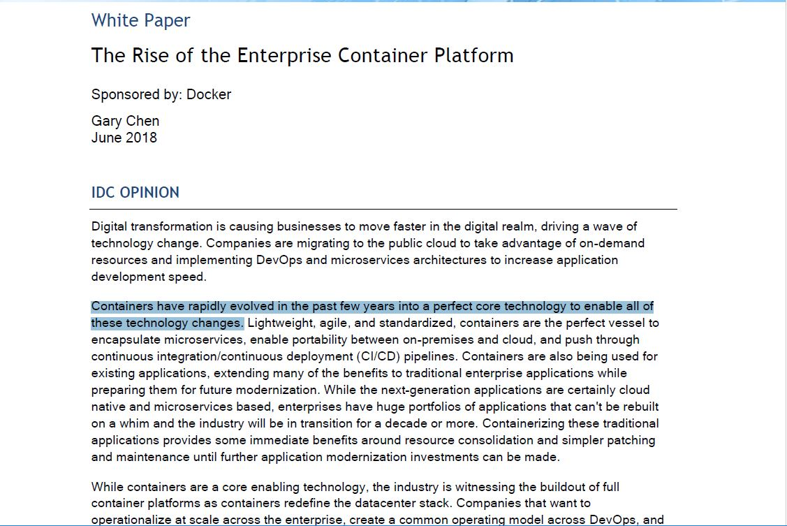 The Rise of the Enterprise Container Platform