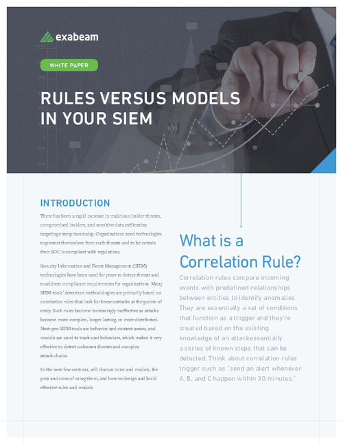 Rules Versus Models in Your SIEM