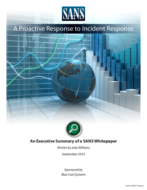 SANs Incident Response Paper Executive Summary