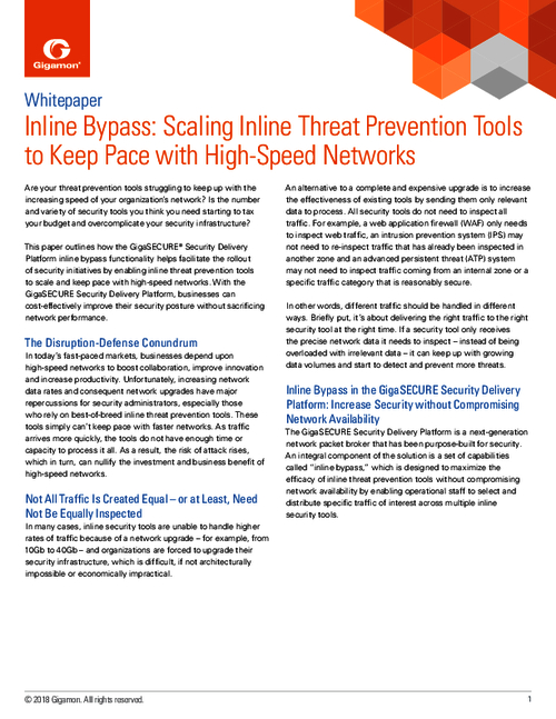Scaling Inline Threat Prevention