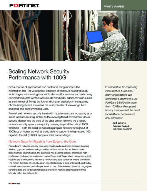 Scaling Network Security