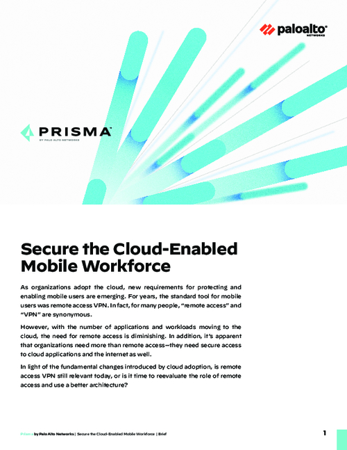 Secure the Cloud-Enabled Mobile Workforce