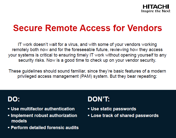 Secure Remote Access for Vendors