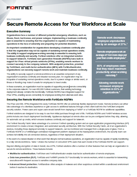 Secure Remote Access for Your Workforce at Scale