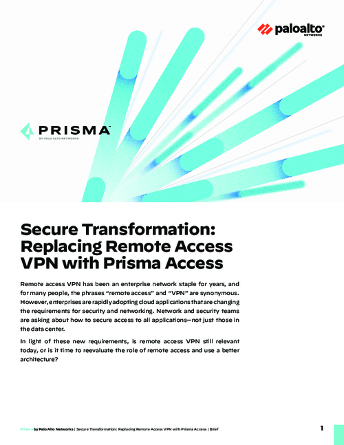 Secure Transformation: Replacing Remote Access VPN with Prisma Access