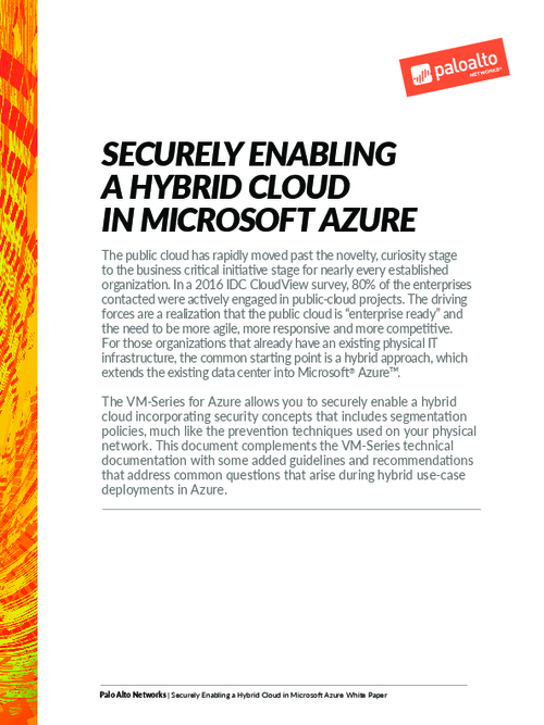 Securely Enabling a Hybrid Cloud in Microsoft Azure