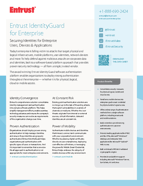 Securing Identities for Enterprise Users, Devices and  Applications