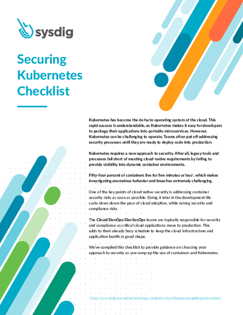 Securing Kubernetes Checklist