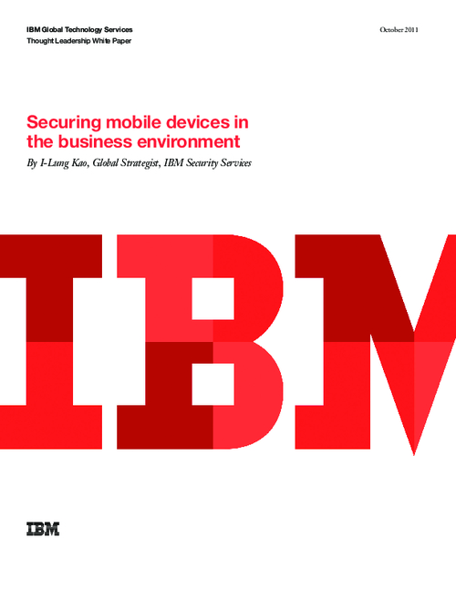 Securing Mobile Devices in the Business Environment