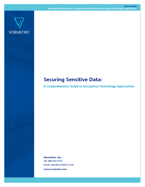 Securing Sensitive Data: A Comprehensive Guide to Encryption Technology Approaches