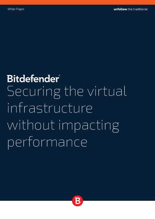 Securing the Virtual Infrastructure without Impacting Performance