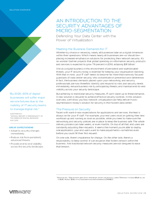 The Security Advantages of Micro-Segmentation