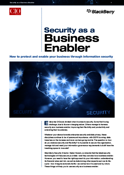 Security As A Business Enabler