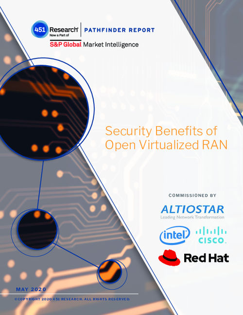Security Benefits of Open Virtualized RAN
