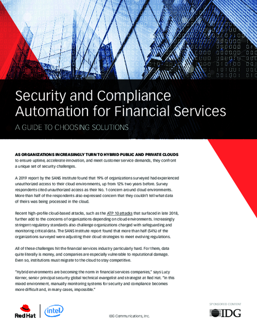 Security and Compliance Automation for Financial Services: A Guide to Choosing Solutions